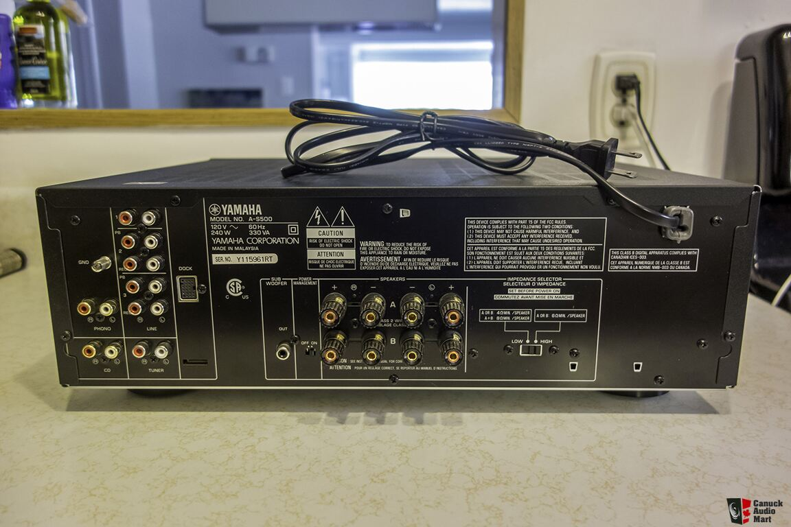 Yamaha a s500 integrated amplifier photo 1248993 canuck for Yamaha amplifier spotify