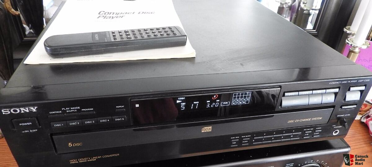 sony 5 disc cd player manual