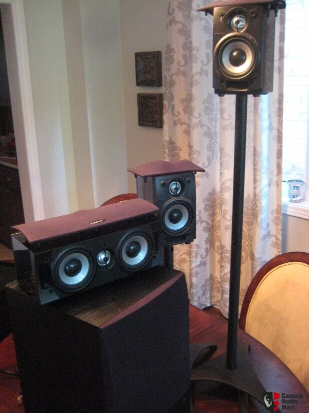 Power Elac Debut   With Yamaha Rx A