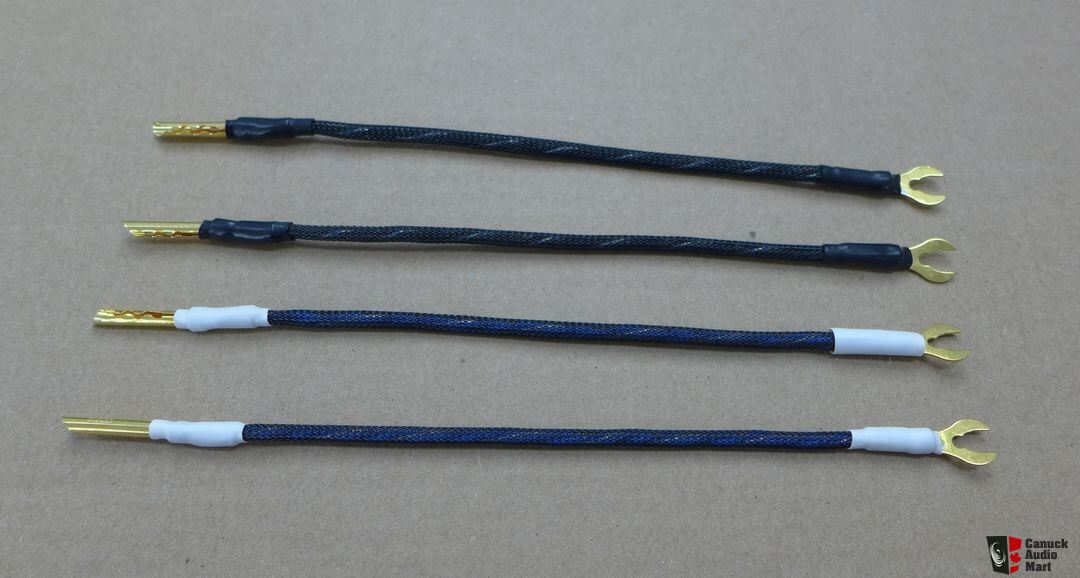 Speaker jumper cables made with Kimber kable 4TC and silver plated 99.9999% OCC solidcore