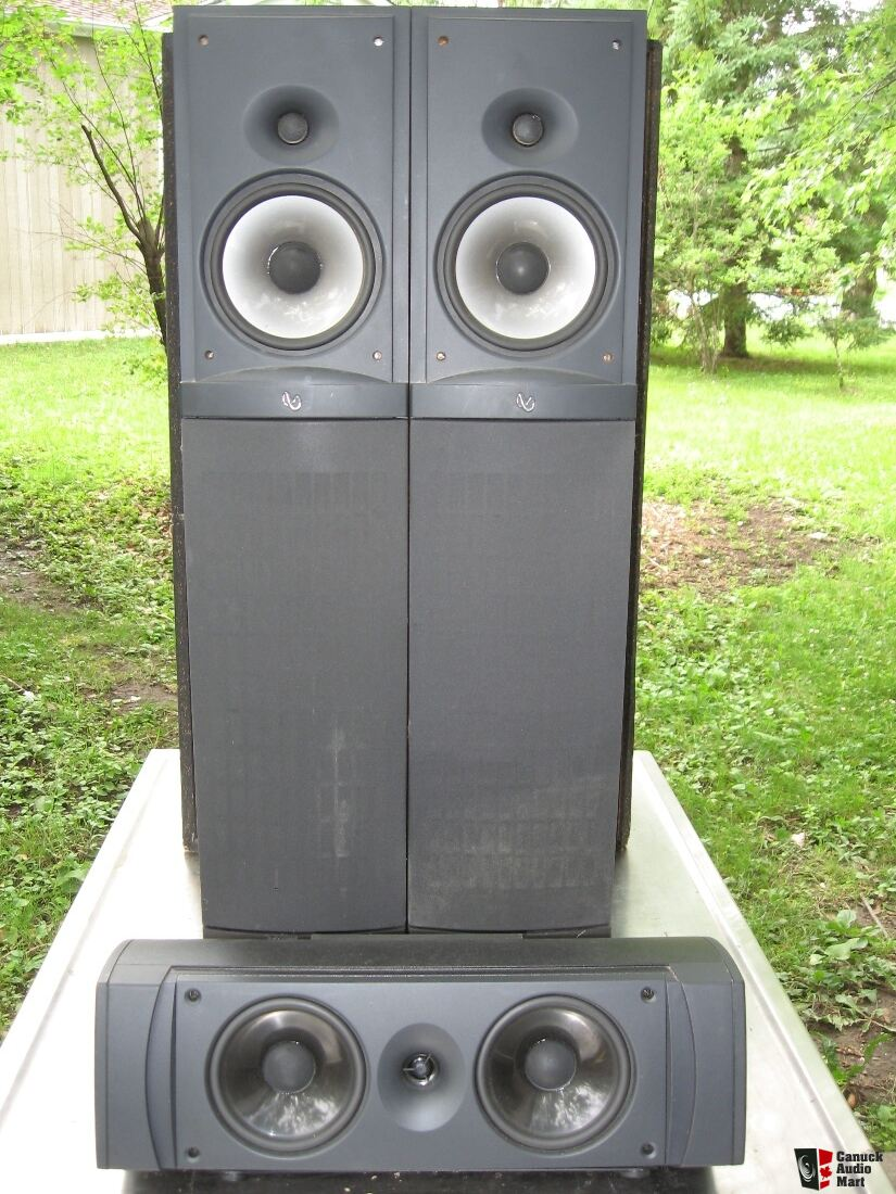 Infinity Rs4 Reference Tower Speakers With Center Channel Speaker