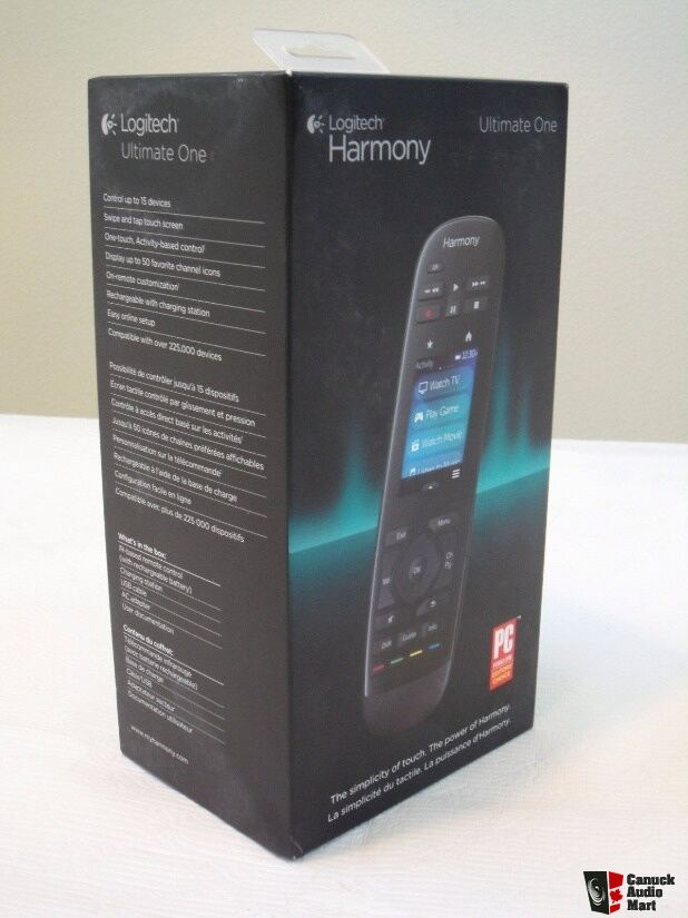 logitech harmony ultimate one universal remote brand new sealed photo 1298384 canuck audio mart. Black Bedroom Furniture Sets. Home Design Ideas