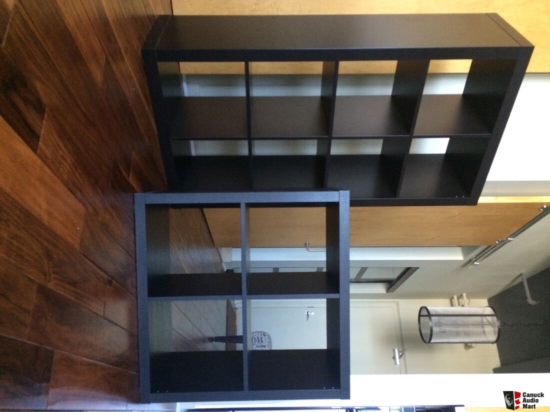 ikea expedit 4x2 and kallax 2x2 lp storage photo 1315418 canuck audio mart. Black Bedroom Furniture Sets. Home Design Ideas
