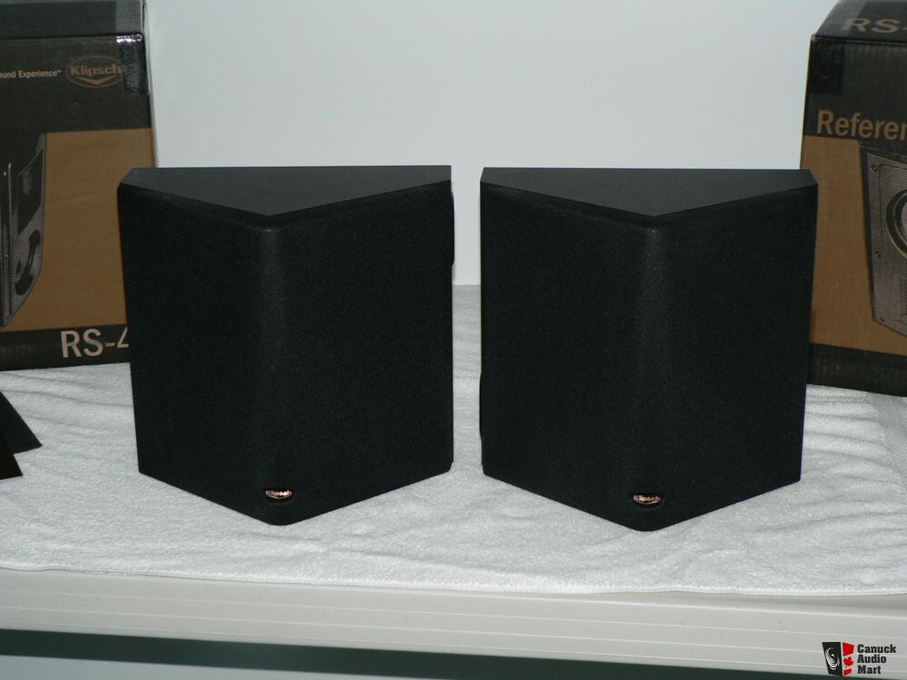 klipsch suround speakers rs 42 paire photo 132021 canuck audio mart. Black Bedroom Furniture Sets. Home Design Ideas