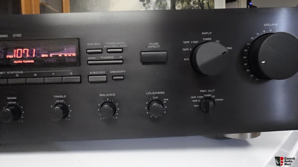 yamaha rx 550 amplifier receiver photo 1220285 canuck