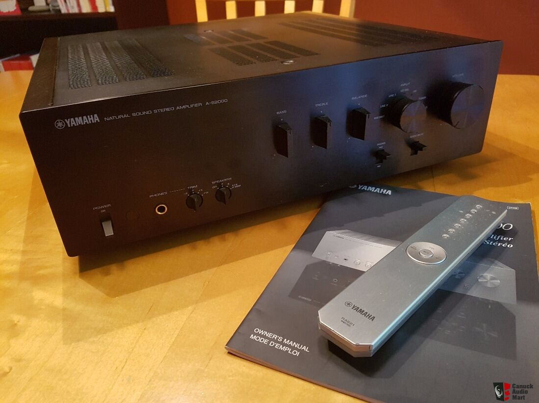Yamaha a s2000 integrated amplifier photo 1343804 for Yamaha amplifier spotify