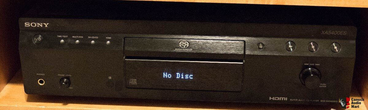 Sony SCD-XA 5400ES SACD Player- Low Hours- Remote and Box ...