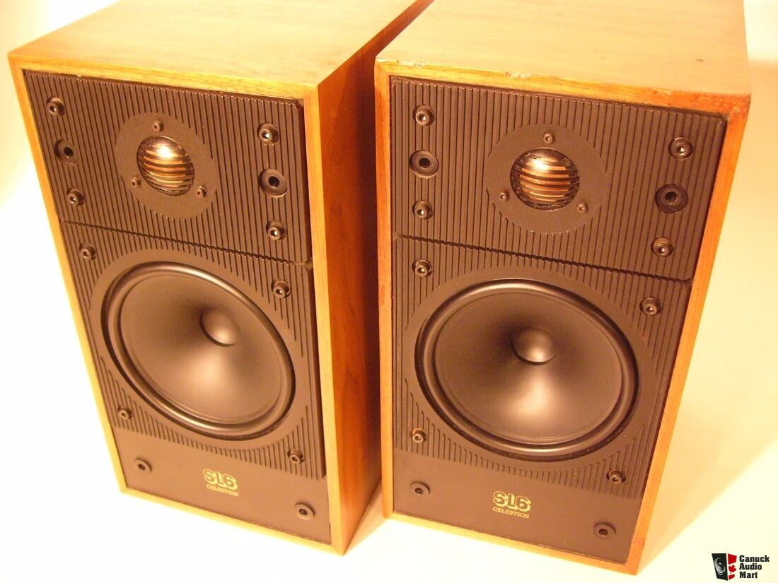 Classic Celestion SL6 Bookshelf Speakers In Walnut