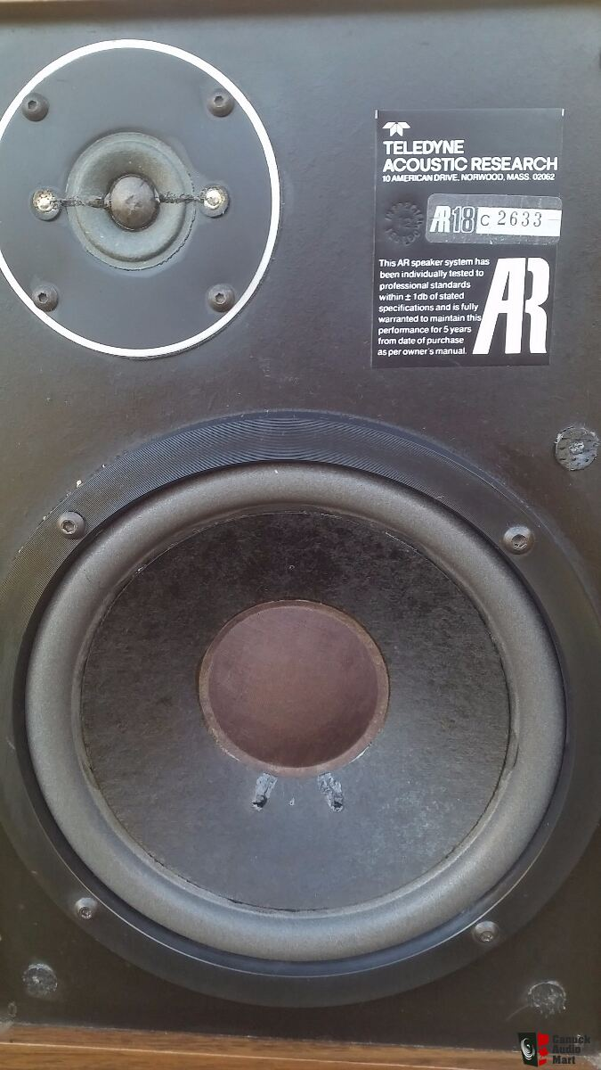 Vintage AR 18 speakers (rare original versions) - consecutive serial