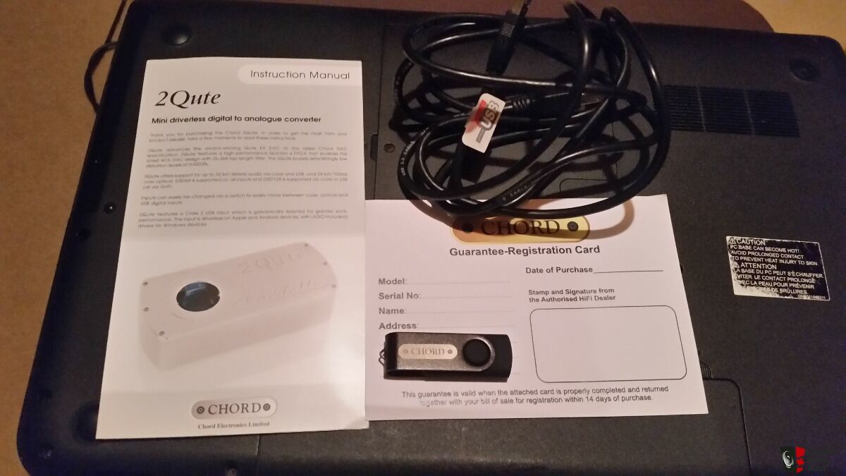 Chord 2Qute DSD Dac plus Chordette stand Price Lowered Photo
