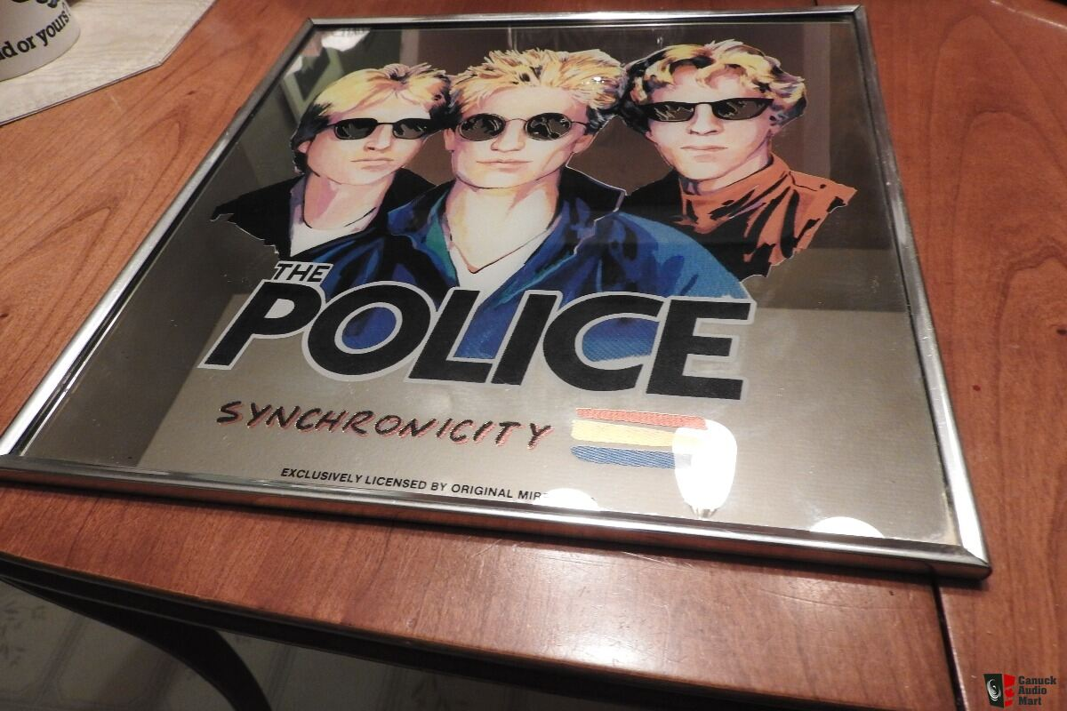 RARE THE POLICE SYNCHRONICITY LP Record Sized Licensed Mirror ===includes shipping