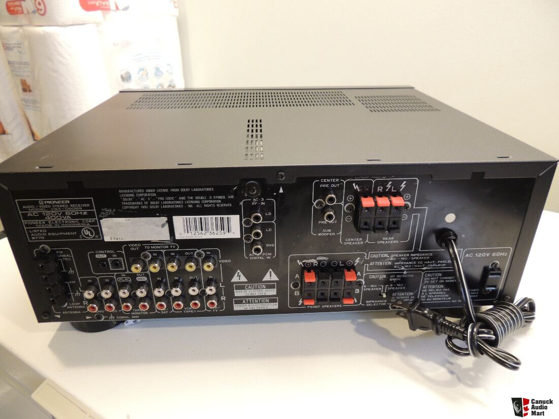 Pioneer VSX-D606S Stereo/Surround Receiver- 100watts/ch Photo ...