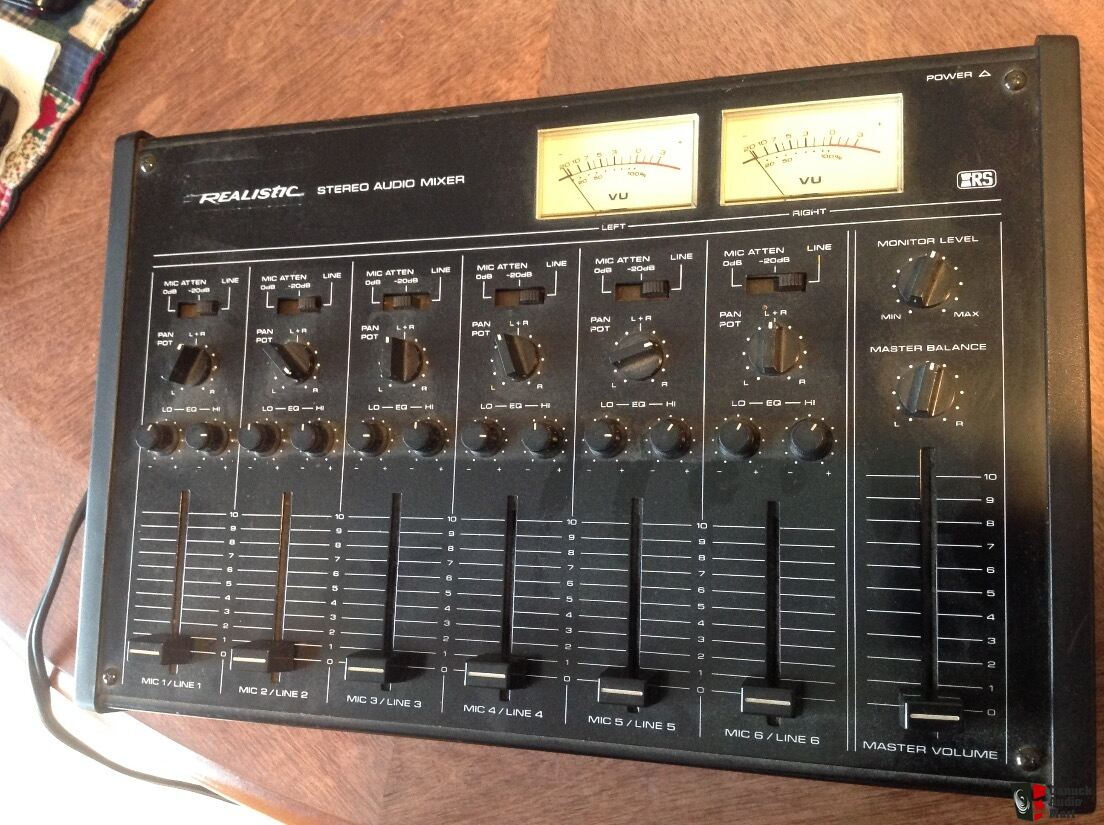 Realistic 6 Channel Mixer Model 32 1210 Photo 1436391 Canuck Audio