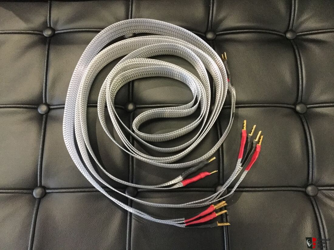 Nordost Tyr 2.5 Meter Bi-wire Spade to Banana Speaker Wires Photo ...