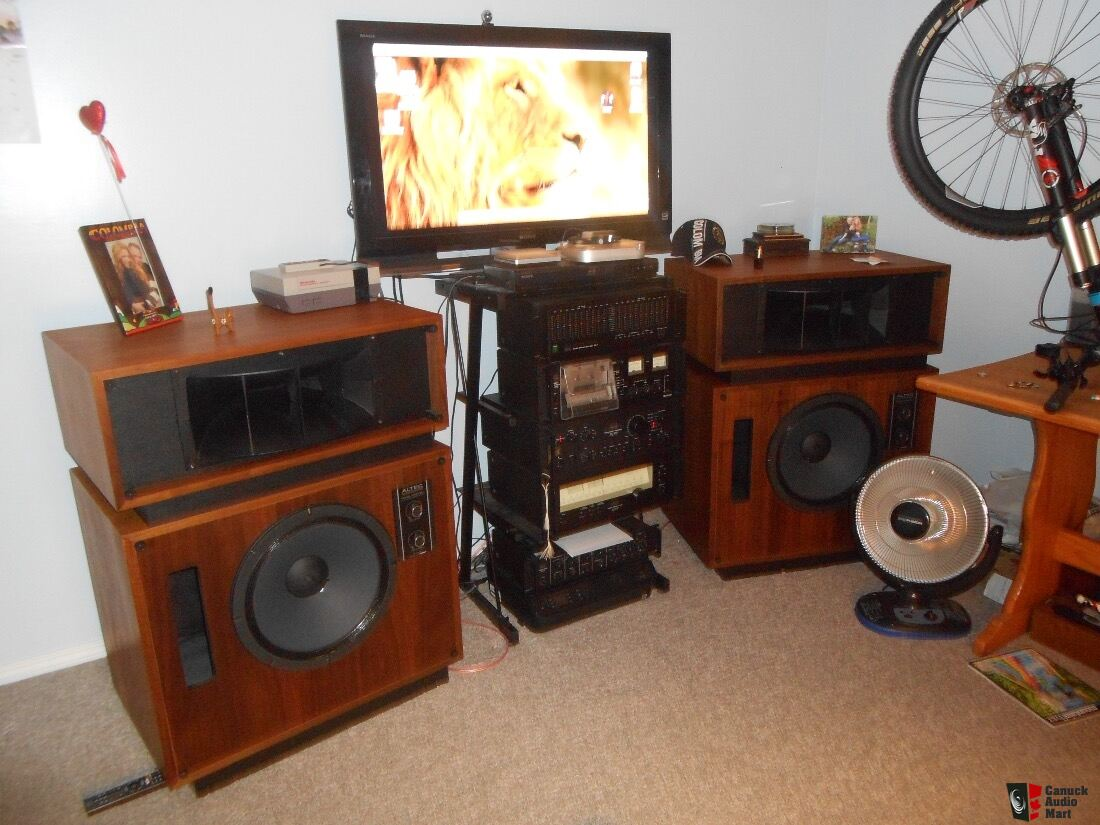 Altec lansing model 19 speakers with complete sansui system