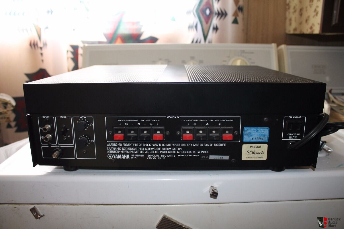 Yamaha m4 power amp photo 1491676 canuck audio mart for Yamaha amplifier spotify