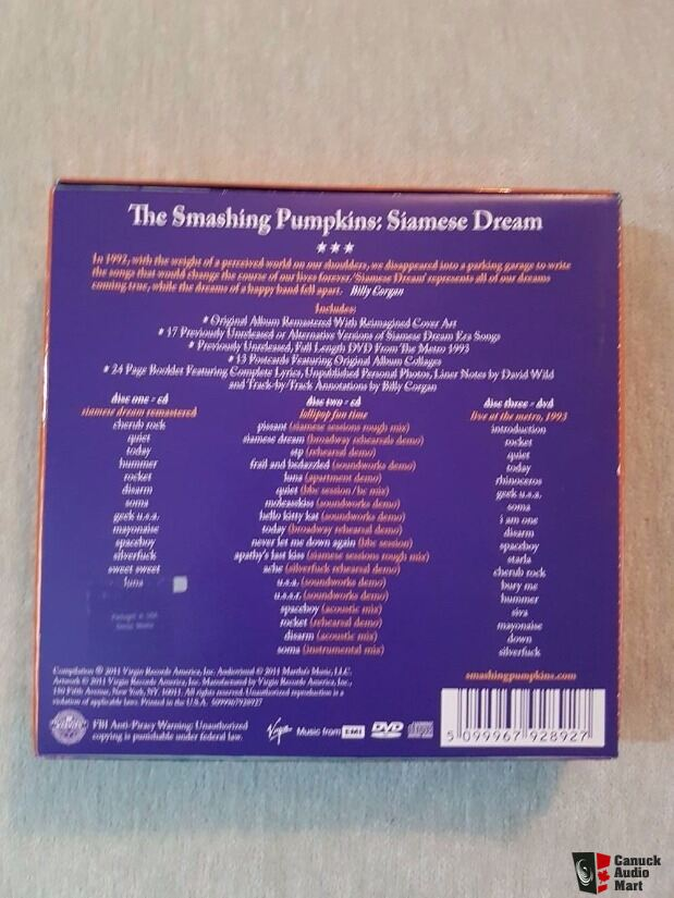The Smashing Pumpkins Siamese Dream  Bob Dylan Limited Edition Cd  Boxed Sets ! See Photos