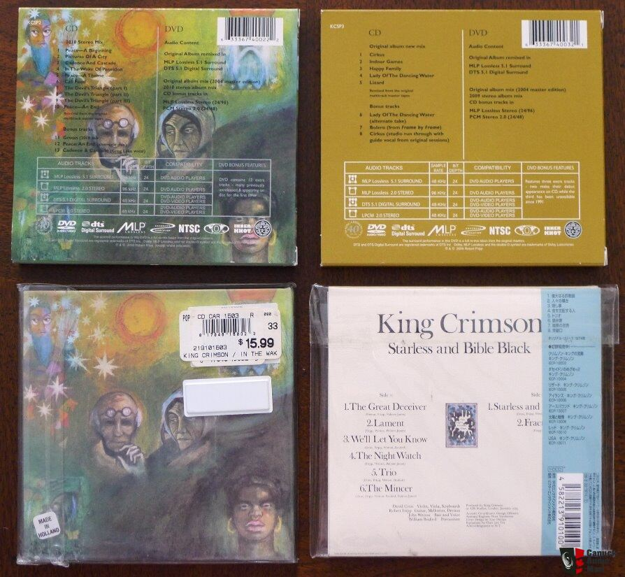 Progressive Rock Import CD and HDCD - Genesis, King Crimson, Yes