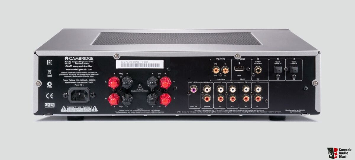 Cambridge AUDIO CXA60 60W Integrated Amplifier: Manufacturer