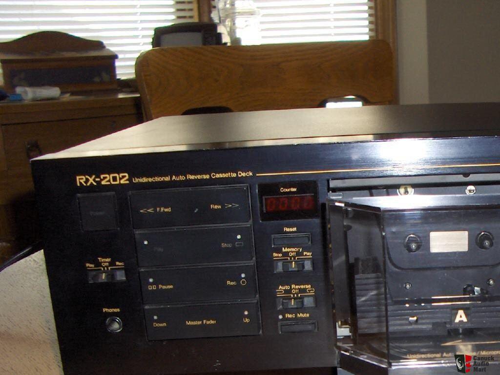 Two Nakamichi RX-202 auto reverse flip mechanism cassette decks