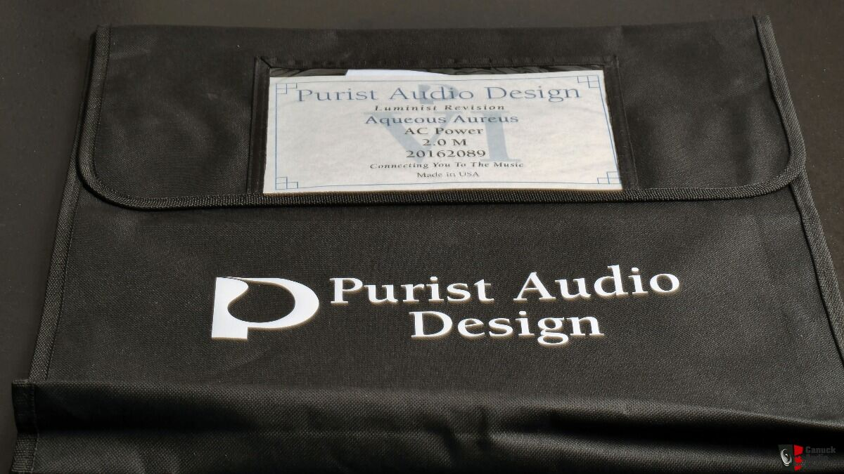 Purist Audio Design Aqueous Aureus-Luminist Power Cord:  2 meter
