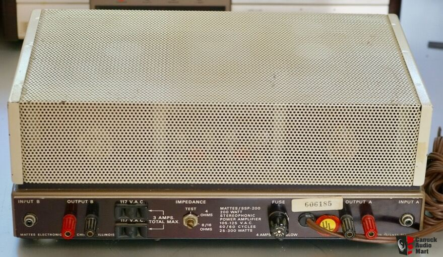 Mattes stereo power amp  HI FI History    FIRST 100 w per side amp