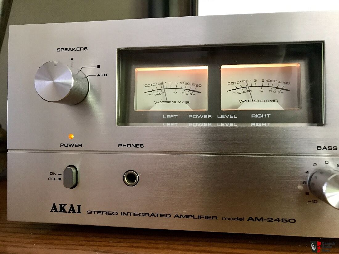 Refurbished 1977 AKAI AM-2450 Integrated Amplifier =Price includes
