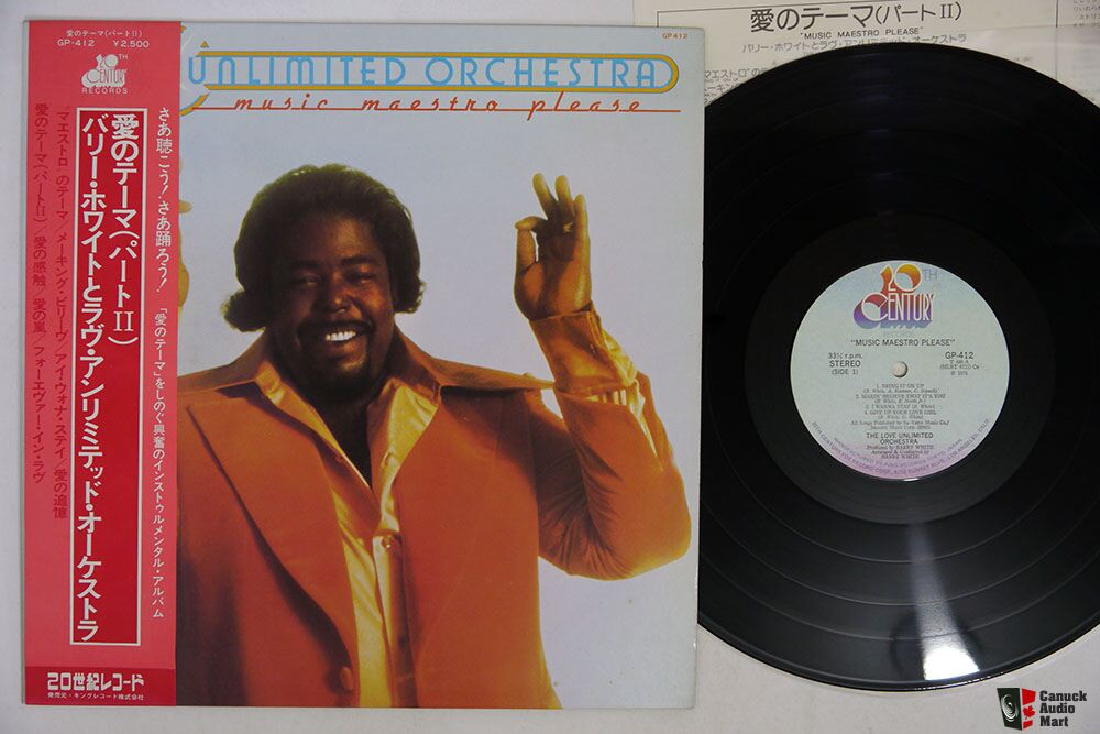 Japanese Vintage Vinyl- Barry White Rhapsody in White & Love Unlimited