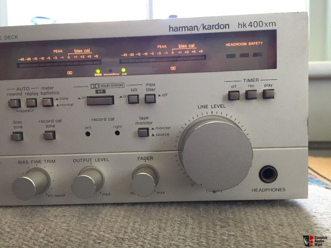 Harman Kardon HK400xm 3 Head Cassette Deck (Repair or Parts=>Needs