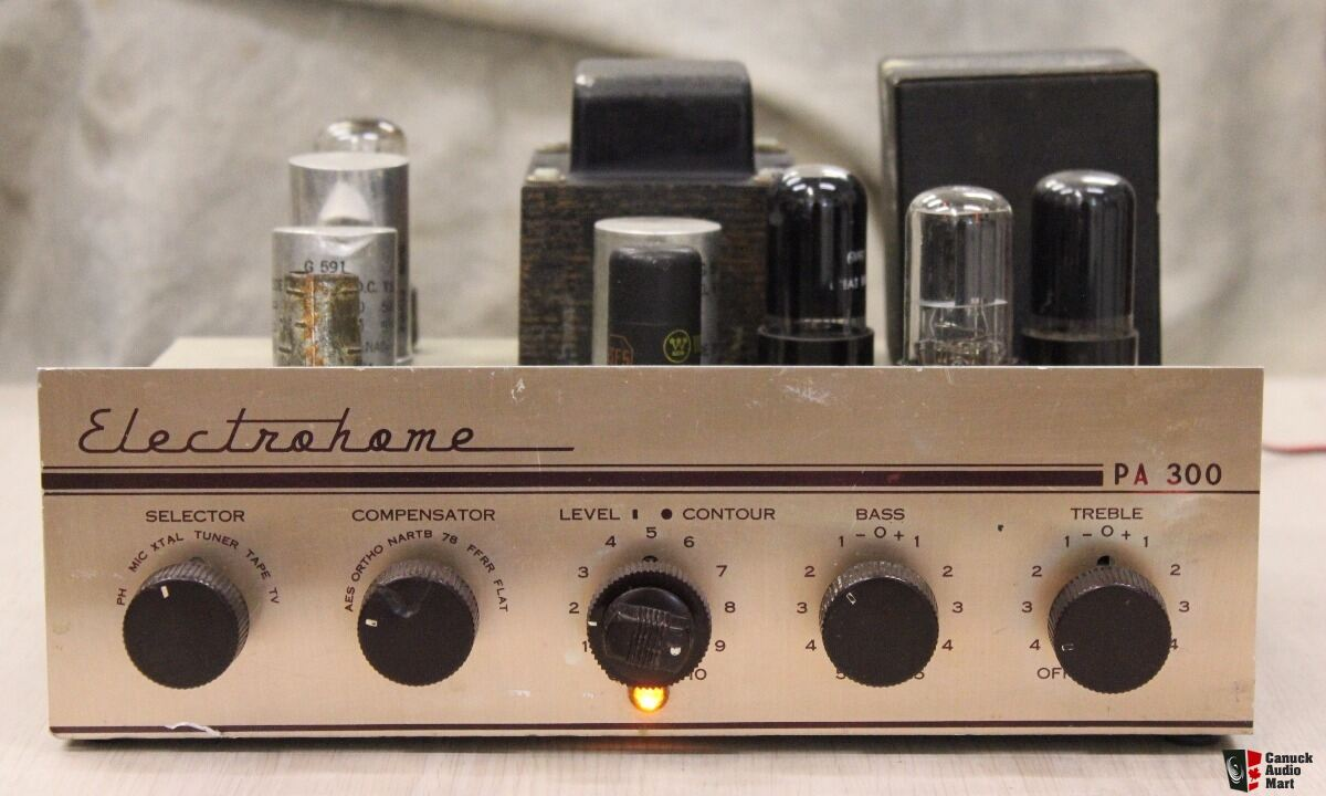 vintage electrohome pa 300 tube amp   see youtube video