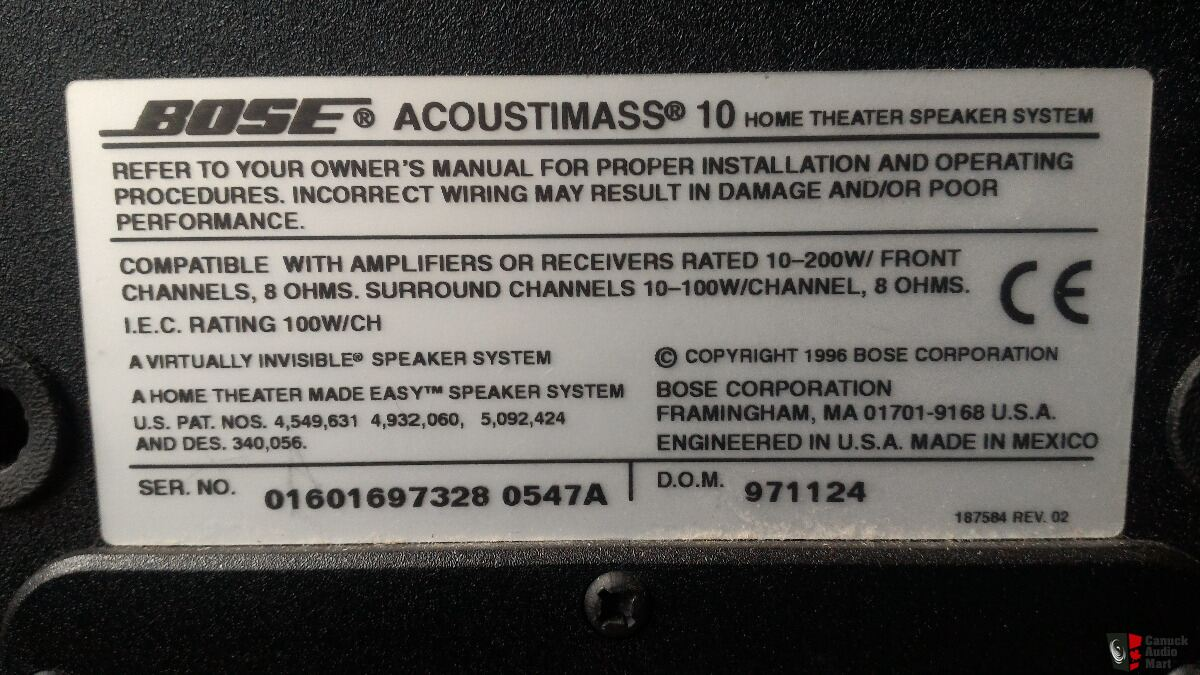 Bose Acoustimass 10 Series II