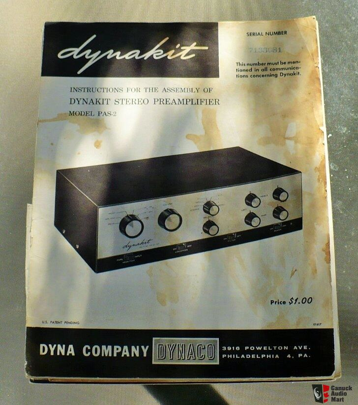 original dynaco dynakit manuals st70 pas2 pas 2 3 fm3 hard to find