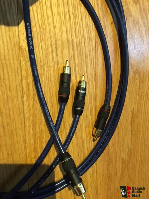DH Labs Silver Sonic BL-1 Series II 2 meter pair RCA Interconnect Cable