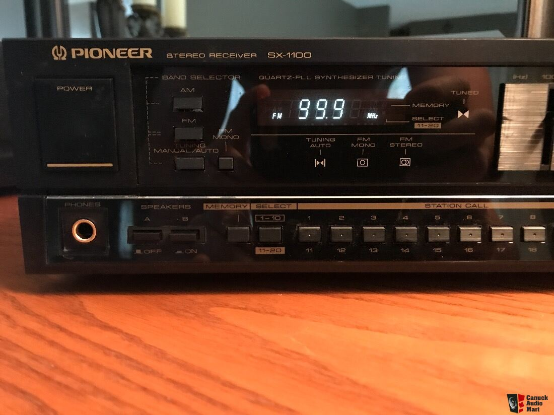 Serviced: 1989 Pioneer SX-1100 Compact yet powerful receiver Japan crafted