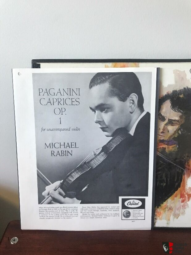Michael Rabin Paganini caprices for unaccompanied violin Box Set 2 LP (Canadian Pressing)