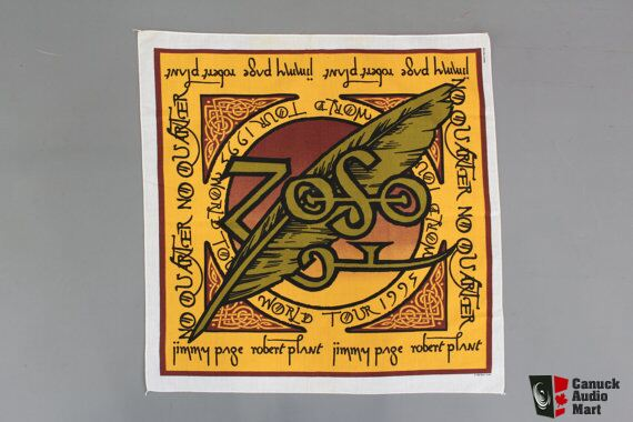 Led Zepplin - Jimmy Page & Robert Plant 1995 World Tour Bandana