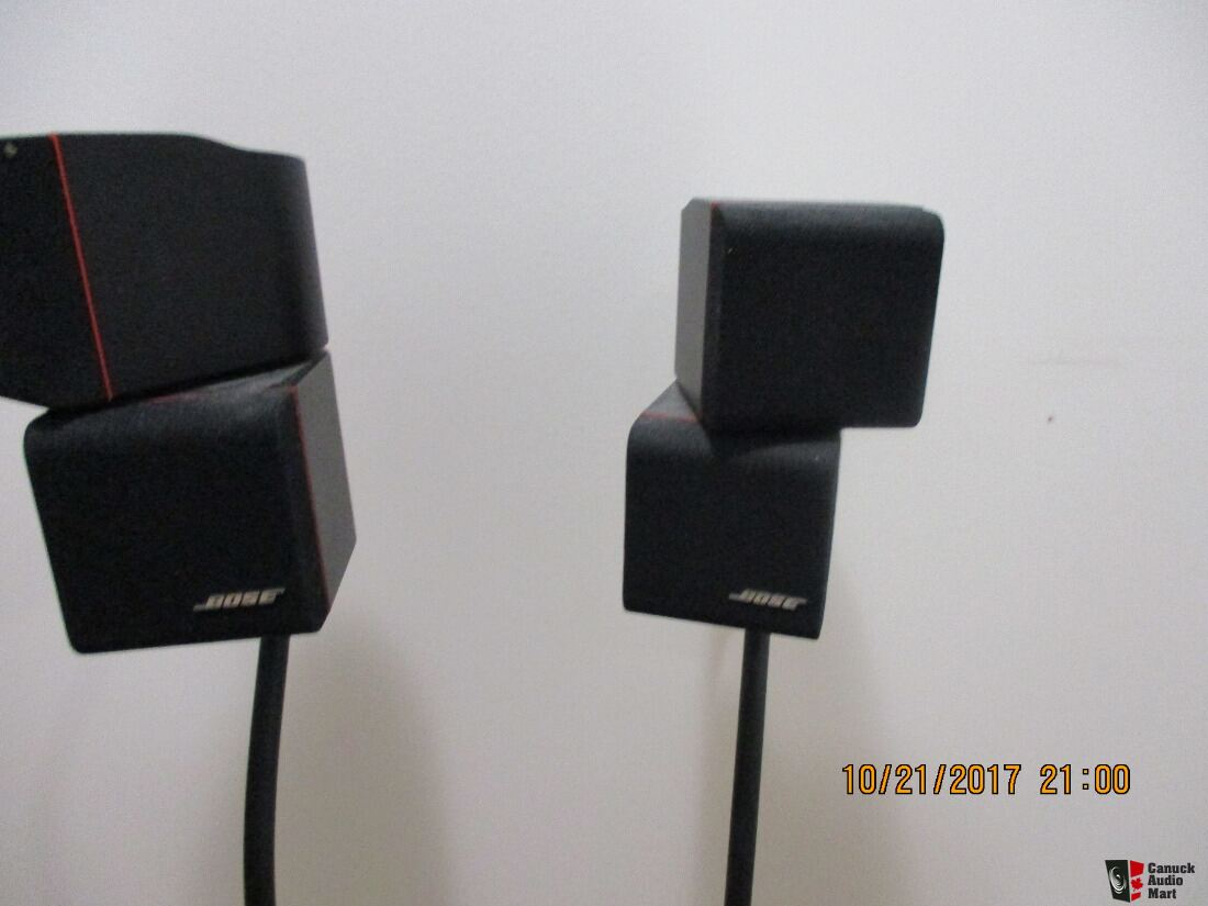 3 Bose Double Cube Acoustimass & Sub Speakers