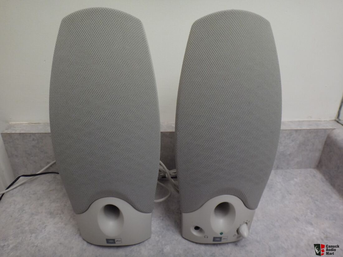 JBLPro Powered Computer Speakers Beige