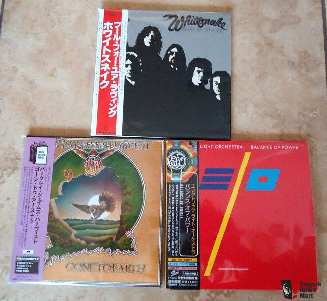 Classic Rock Audiophile Japanese CDS