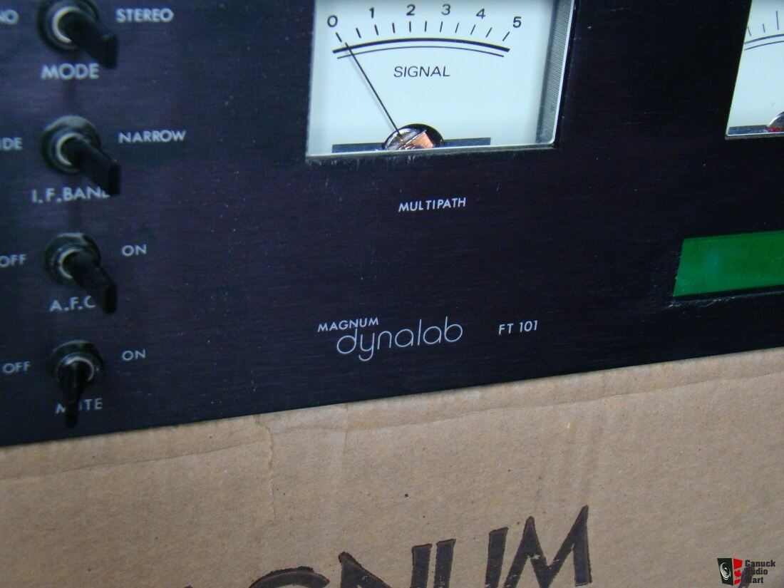 Magnum Dynalab FT 101 FM Tuner, with original box and documents