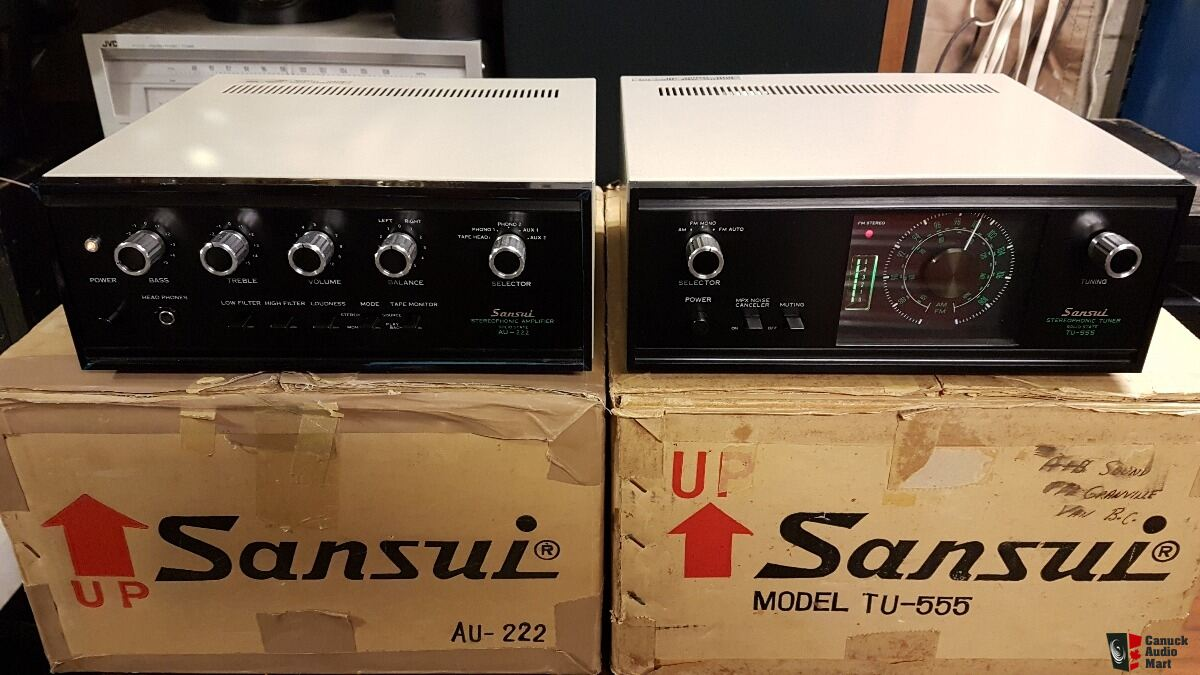 Ultra Rare mint with boxes Vintage Sansui AU 222 ---TU 555