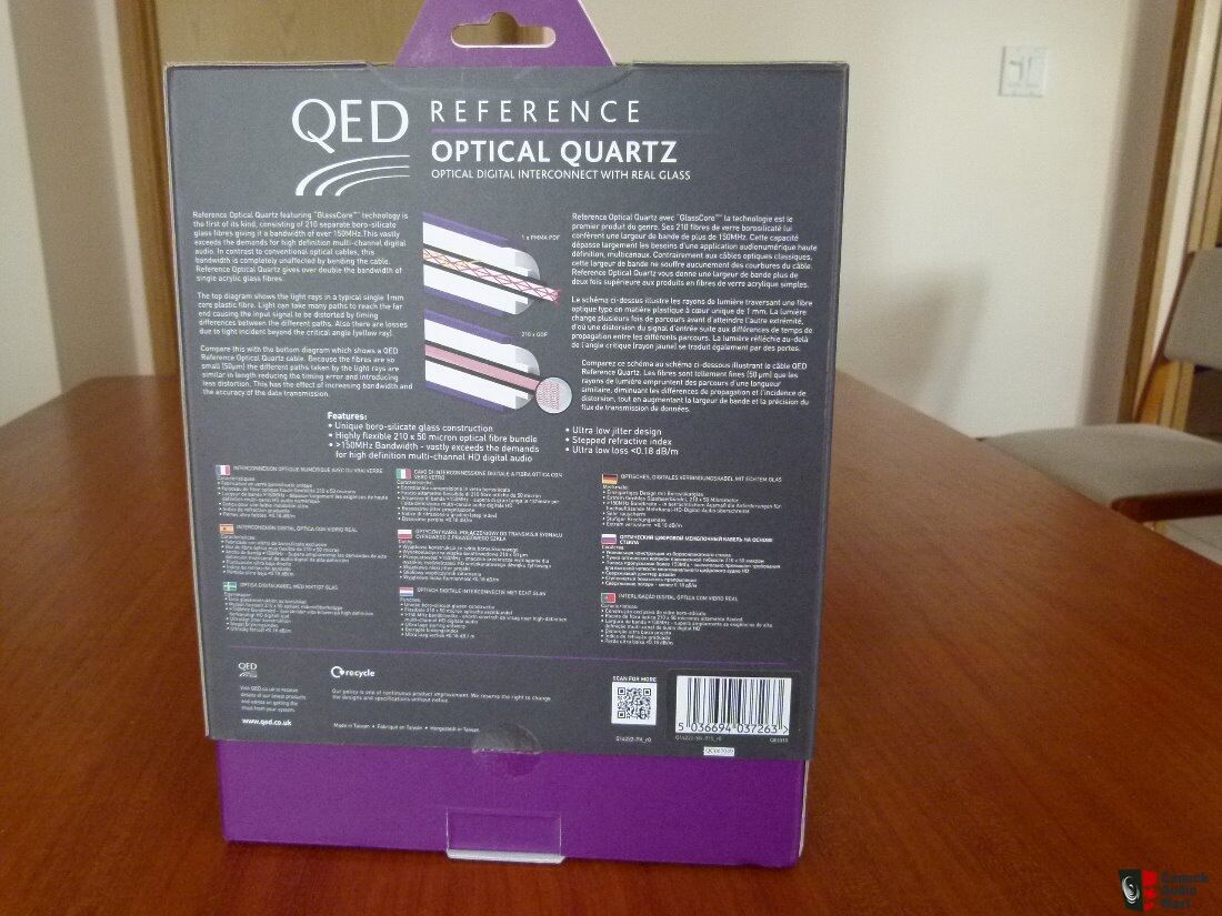 Qed Reference Optical Quartz Digital Cable 15m Photo 1842653 Uk Wiring Diagram