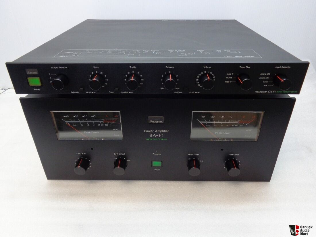 NICE KIT Sansui BA-F1 CA-F1 power amp and preamp,,,,perfect working ...