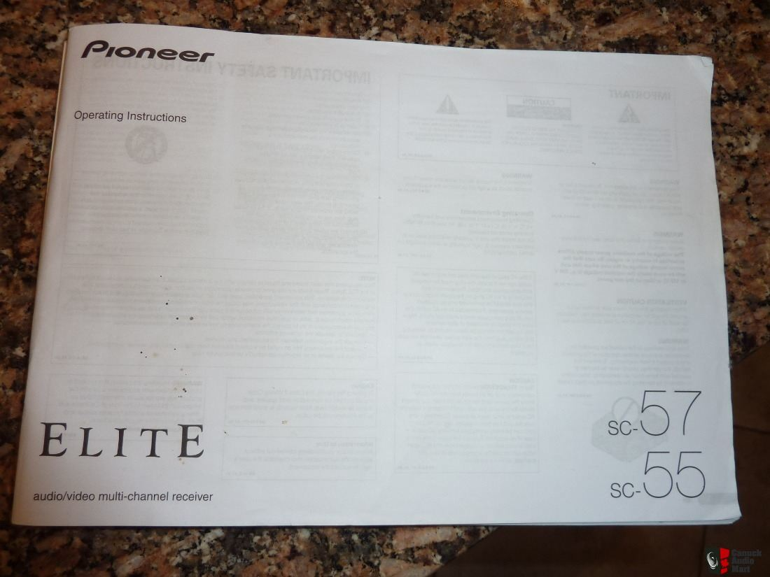 Pioneer Elite SC-57 9.1 Channel A/V System Flagship Model !!