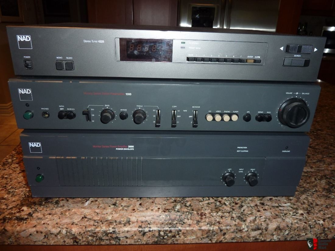 NAD 2600 Amp & NAD 1300 Preamp & NAD 4225 Tuner Package Deal