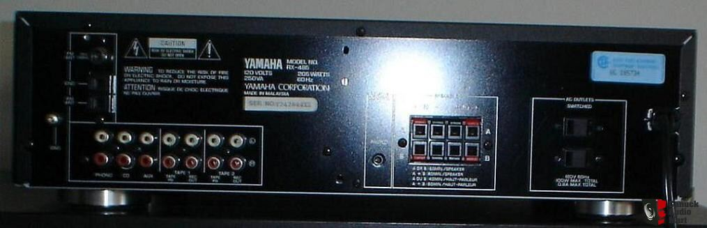 yamaha rx 485 stereo receiver photo 192321 canuck audio. Black Bedroom Furniture Sets. Home Design Ideas
