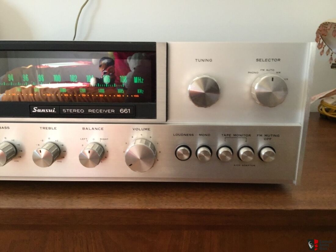 Sansui 661 Stereo Receiver -Reduced