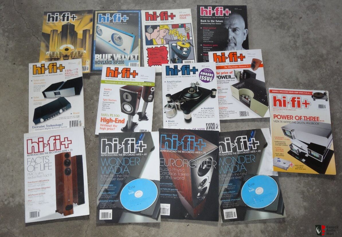 One lot of audio magazines Stereophile, UHF, Hi-Fi+, Inner