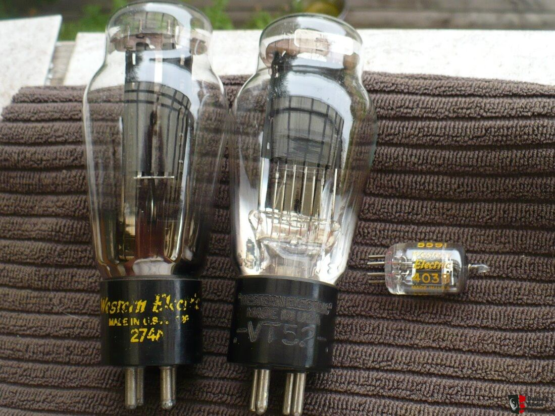 3 Vintage Western Electric Tubes 274A VT-52 Engraved Base