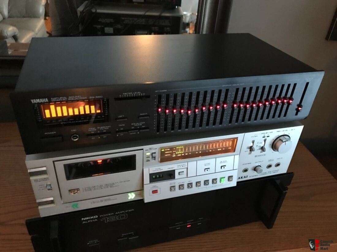 1999 Yamaha EQ-550 10 BAND EQUALIZER original Testing